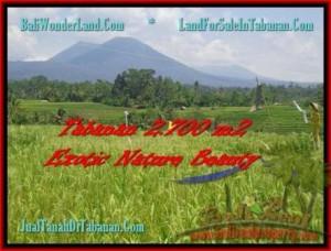 Magnificent PROPERTY Tabanan Penebel 2.700 m2 LAND FOR SALE TJTB175