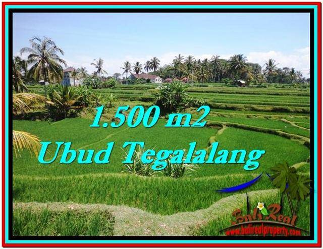 Affordable PROPERTY 1,500 m2 LAND FOR SALE IN Ubud Tegalalang TJUB528