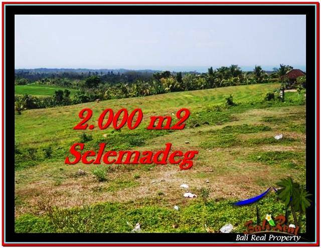 Magnificent PROPERTY 2,000 m2 LAND IN Tabanan Selemadeg FOR SALE TJTB228