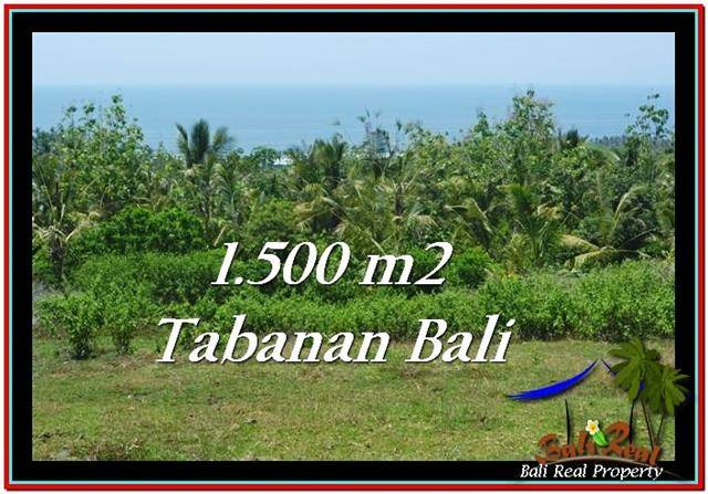 FOR SALE Magnificent 1,500 m2 LAND IN TABANAN BALI TJTB234