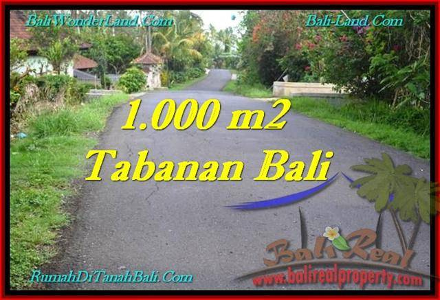 Magnificent 1,000 m2 LAND SALE IN TABANAN BALI TJTB243