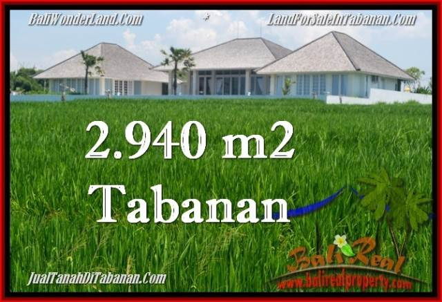 FOR SALE 2,940 m2 LAND IN TABANAN TJTB265