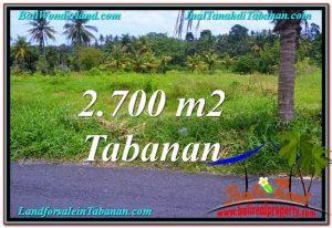 Beautiful PROPERTY 2,700 m2 LAND IN Tabanan Kerambitan FOR SALE TJTB301