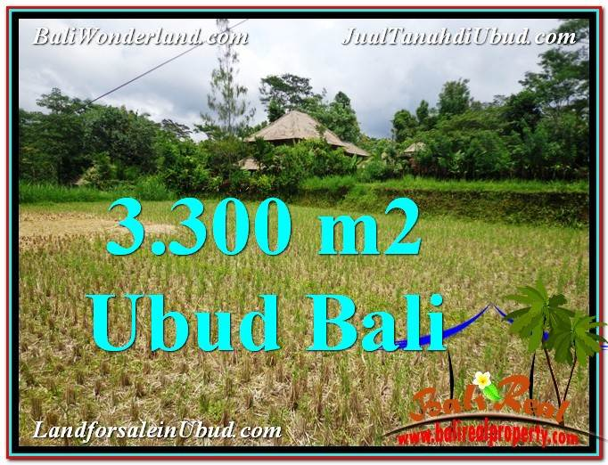 Beautiful PROPERTY 3,300 m2 LAND FOR SALE IN Ubud Tampak Siring TJUB562