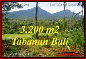 FOR SALE Beautiful 3,200 m2 LAND IN TABANAN TJTB319