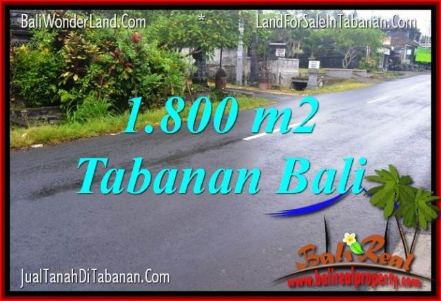 FOR SALE Magnificent PROPERTY 1,800 m2 LAND IN TABANAN TJTB321