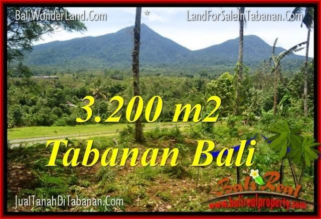 FOR SALE Magnificent 3,200 m2 LAND IN TABANAN TJTB319