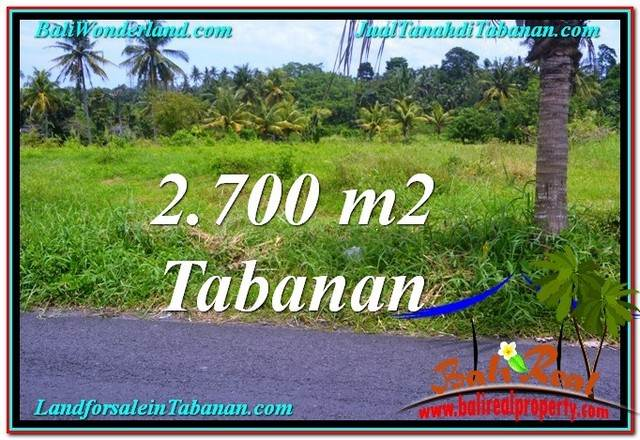 Exotic PROPERTY 2,700 m2 LAND FOR SALE IN Tabanan Kerambitan TJTB301