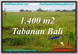 Magnificent PROPERTY TABANAN BALI 1,400 m2 LAND FOR SALE TJTB309