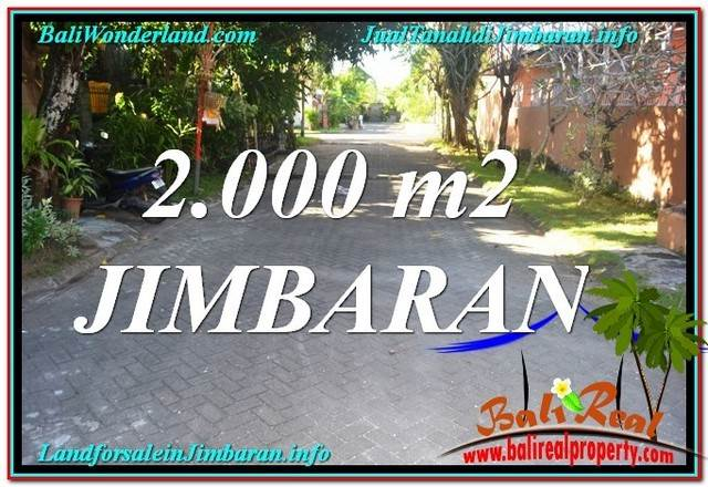 FOR SALE Affordable PROPERTY 2,000 m2 LAND IN Jimbaran Uluwatu  TJJI115