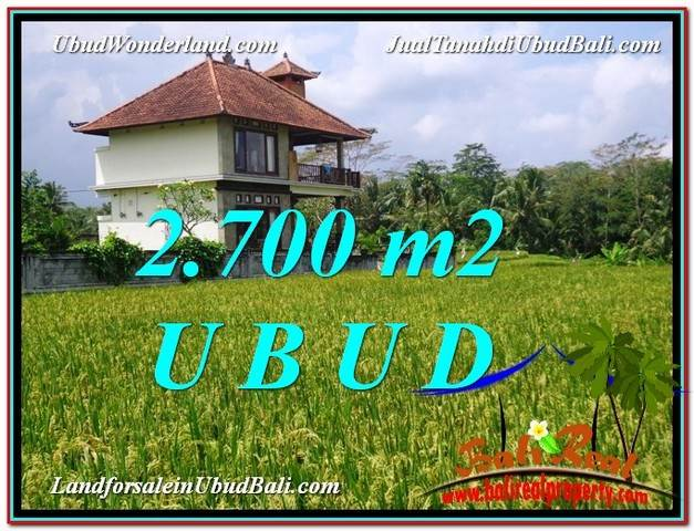 FOR SALE Magnificent 2,700 m2 LAND IN UBUD BALI TJUB595
