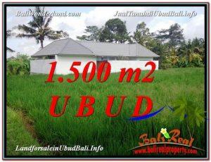 Affordable 1,500 m2 LAND FOR SALE IN UBUD BALI TJUB600