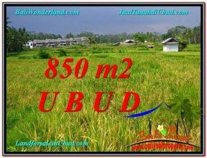 850 m2 LAND IN UBUD BALI FOR SALE TJUB583
