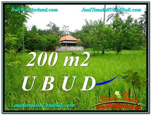Exotic PROPERTY LAND FOR SALE IN UBUD TJUB584