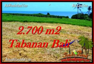 Affordable PROPERTY 2,700 m2 LAND IN Tabanan Selemadeg FOR SALE TJTB286