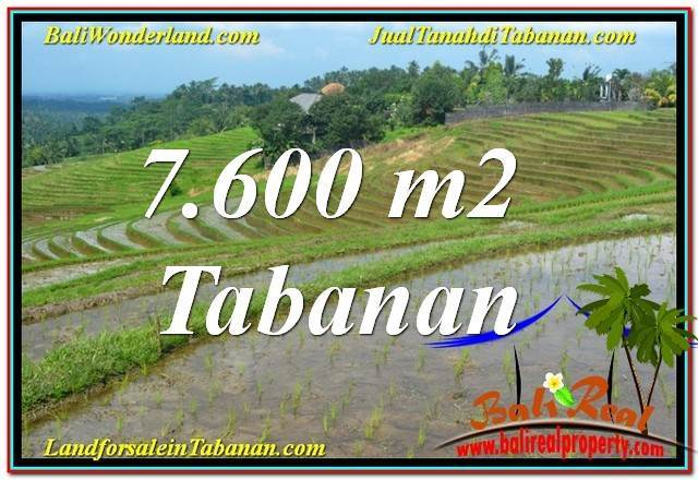 FOR SALE 7,600 m2 LAND IN TABANAN BALI TJTB347