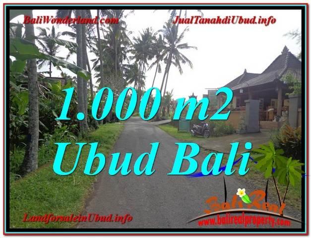 Affordable PROPERTY 1,000 m2 LAND IN UBUD BALI FOR SALE TJUB604