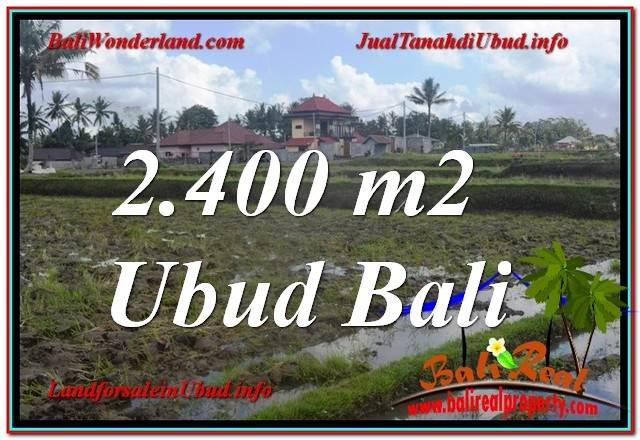 Exotic PROPERTY 2,400 m2 LAND SALE IN UBUD BALI TJUB620