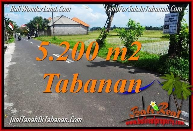 FOR SALE Affordable 5,200 m2 LAND IN Tabanan Kediri BALI TJTB351