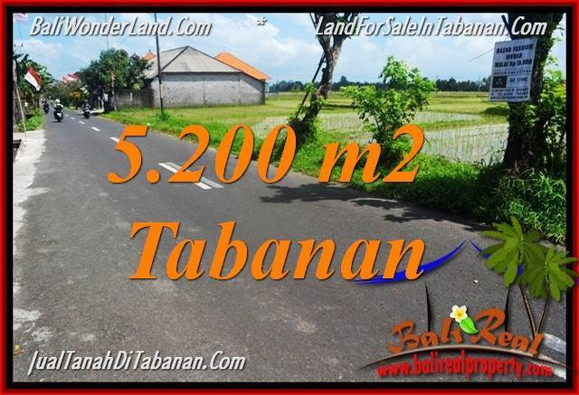 FOR SALE Magnificent 5,200 m2 LAND IN TABANAN BALI TJTB351