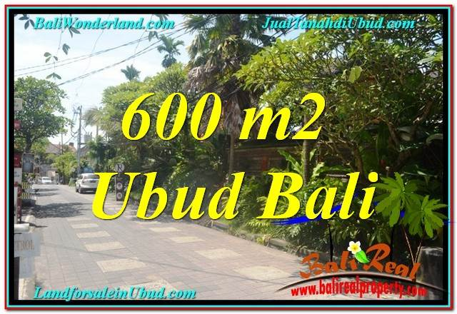 FOR SALE Affordable PROPERTY 600 m2 LAND IN Sentral / Ubud Center BALI TJUB644