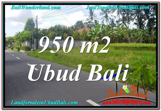 FOR SALE Exotic 950 m2 LAND IN Sentral / Ubud Center BALI TJUB648
