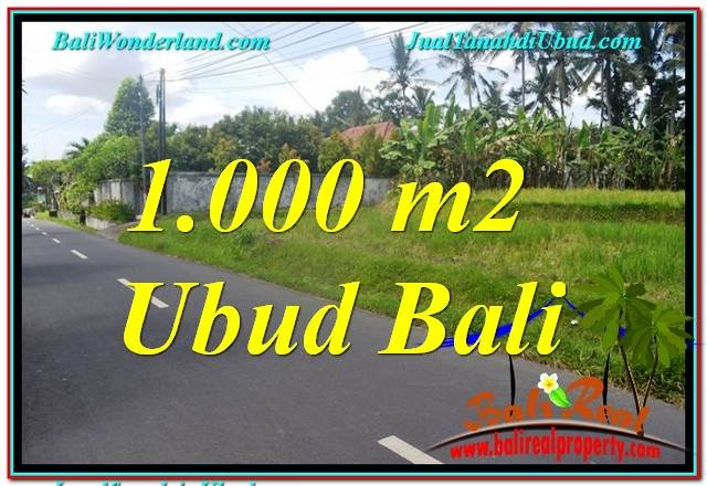Beautiful 1,000 m2 LAND FOR SALE IN Sentral / Ubud Center TJUB649