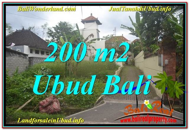 Exotic Sentral / Ubud Center BALI 200 m2 LAND FOR SALE TJUB632
