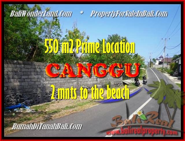 FOR SALE Magnificent PROPERTY 550 m2 LAND IN CANGGU BALI TJCG159