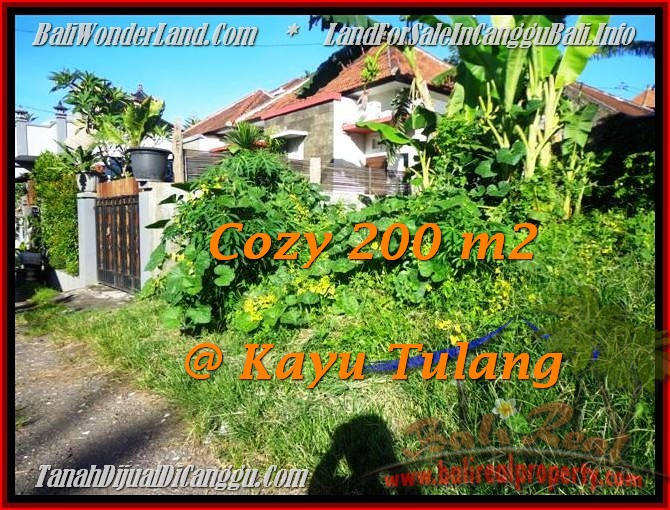 FOR SALE Exotic PROPERTY 200 m2 LAND IN CANGGU BALI TJCG173