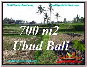 Magnificent 700 m2 LAND IN UBUD BALI FOR SALE TJUB666