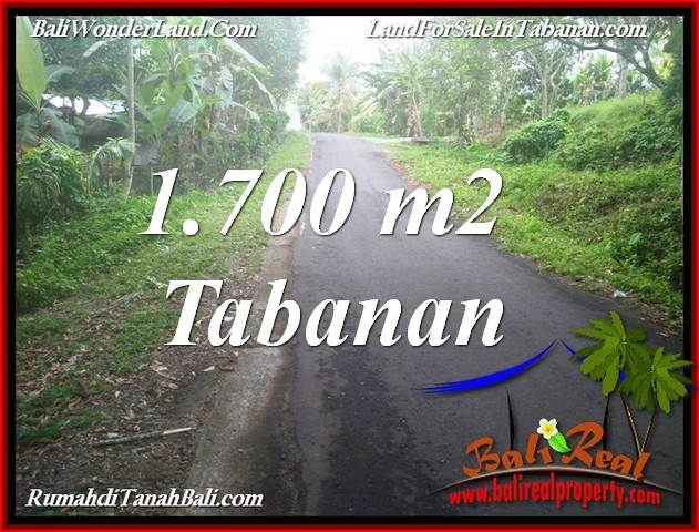 Magnificent 1,700 m2 LAND IN TABANAN BALI FOR SALE TJTB385