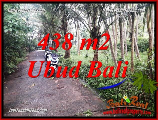 Exotic 438 m2 Land in Ubud Bali for sale TJUB689