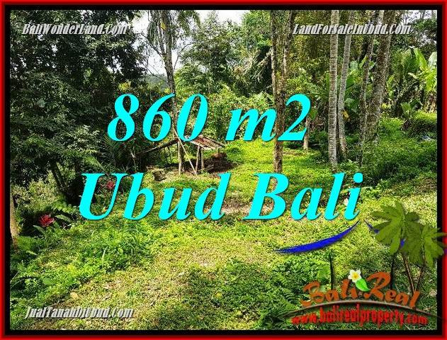 FOR sale 860 m2 Land in Ubud Bali TJUB691