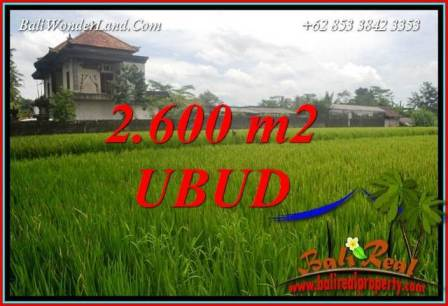 2,600 m2 Land in Ubud Bali for sale TJUB701