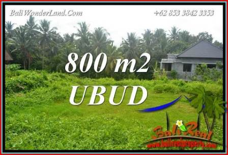 800 m2 Land in Ubud Bali for sale TJUB706