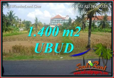 Exotic Property 1,400 m2 Land sale in Sentral Ubud TJUB709