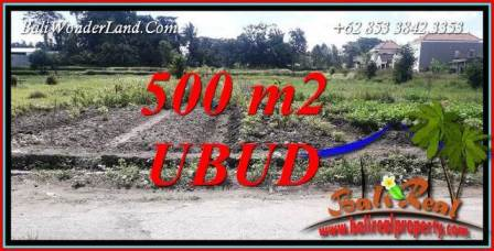 FOR sale Affordable Property 500 m2 Land in Sentral Ubud TJUB720