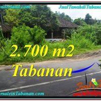 Beautiful PROPERTY Tabanan Kerambitan 2,700 m2 LAND FOR SALE TJTB299