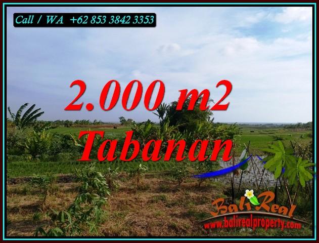 Magnificent 2,000 m2 LAND SALE IN KERAMBITAN TABANAN BALI TJTB492